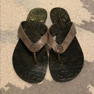 Leather Tory Burch Sandals